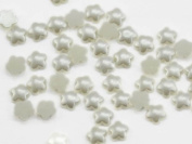 8mm Pearl Star Cabochons - 25 Pieces