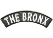 THE BRONX NYC NY White Black 10cm x 3.8cm Quality Rocker Biker Vest Patch PAT-2943