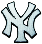 New York Yankees Patches (White Ny Patches) Embroidered Iron on Patch