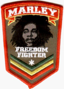Bob Marley - Freedom Fighter Logo - Embroidered Iron On or Sew On Patch