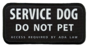 SERVICE DOG DO NOT PET ADA Medical 6.4cm x 13cm Black Rim Sew-on Patch