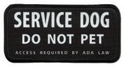 SERVICE DOG DO NOT PET ADA Medical 6.4cm x 13cm Black Rim Sew-on Patch