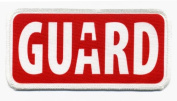 Red LIFEGUARD Rescue Ocean Swimming Pool Safety 6.4cm x 13cm Sew-on Patch