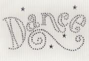 Dance / Swrils Iron On Hot Fix Transfer Rhinestone -- Clear/Tanzanite
