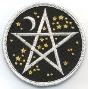 7.6cm Starry Pentagram Embroidered Cloth Patch, PA11