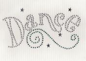 Dance / Swrils Iron On Hot Fix Transfer Rhinestone -- Clear/Emerald