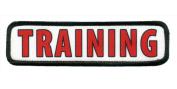 TRAINING in Red ADA Medical Alert Service Dog Gear 3.8cm x 14cm Black Rim Sew-on Patch