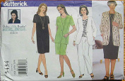 Butterick 5434 Sewing Pattern ~ Delta Burke Women's Jacket, Dress, Top and Pants, Sizes 16W-20W
