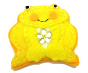 Cuteque International 6-Piece Felt Frog Patch, 5.1cm , Yellow