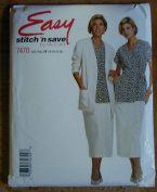 Easy Stitch 'n Save by McCall's Misses' Pattern 7470 Caridgan, Tunic, Skirt Size B