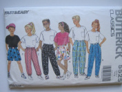 Girls/Boys Top, Pants & Shorts With Wrap-Waist hook and loop Closure (Butterick Classics Sewing Pattern 5525, Size