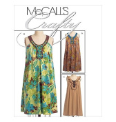 McCall's Crafty dress pattern, M5653, Sizes 6-8-10-12