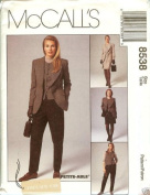 McCall's Sewing Pattern 8538 Misses' Lined Jacket, Vest, Pants & Skirt, Size 12
