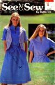 See & Sew 6399 Sewing Pattern Reversible Vest Dress Belt Size 10