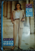 See & Sew Sewing Pattern 6961, Size B (12,14,16); Ladies Jacket & Pants