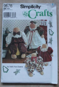 SIMPLICITY CRAFTS SEWING PATTERN 9676 FOR GINGERBREAD DOLLS & CLOTHES
