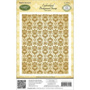 JustRite Stampers Cling Stamps - Embroidered Background