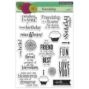 Penny Black Decorative Rubber Stamps, Friendship