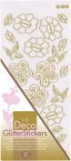 JEJE Produkt Decor Glitter Stickers, 10cm by 23cm , White