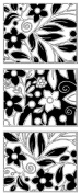 Magenta Self Cling Rubber Stamp Reverse Floral Tile 30.045.M