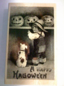 Paper Inspirations Halloween Rubber Stamp, Pumpkins on Shelf