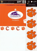Sports Solution Clemson University Tigers 18 Piece Custom Package of Officially Licenced Collegiate College Stickers, Cardstock Frames & Die Cuts