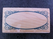 Circular Oval Border Frame Rubber Stamp
