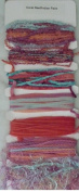 Coral Reef / Indian Paint - Ribbon Card Collection - 7 Hand Dyed-Ribbons Per Card