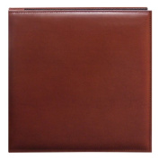 Pioneer 30cm by 30cm Snapload Sewn Leatherette Cover Memory Book, Brown