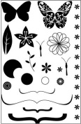 Butterfly Kisses Clear Unmounted Rubber Stamp Set