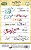 JustRite Stampers Cling Stamps - Grand Thank You Sentiments