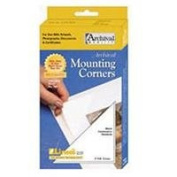 Lineco Self-Adhesive Polypropylene Mounting Corners - 7.6cm Clear