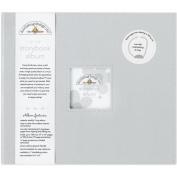Doodlebug Design Grey Storybook for Scrapbooking Album, 30cm by 30cm