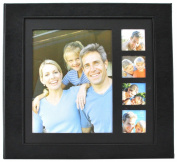 Pinnacle Frames and Accents Black Five Opening Frame Front 20-Page 12x12 Scrapbook Photo Album