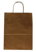 Premier Packaging AMZ-201225 12 Count Shoppers Gift Bag, 10 by 13cm by 33cm , Kraft