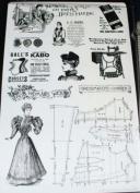See D's Victorian Dressmaker 11 Rubber Stamps + Case # 50199 Inque Boutique Sugarloaf