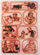 Kids Playing (18cm x 25cm ) Clear Stamps Large Sheet / Retro, Vintage, Children