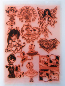 Modern Teen Girl Princesse Fairy (18cm x 25cm ) Large Sheet Clear Stamps