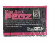 Pegz Stamp American Typewriter 36 -piece Uppercase Letter Starter Rubber Stamp Set