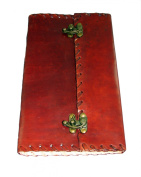 Privateer's Leather Journal with Parchment Paper and Double Clasps (23cm x 14cm ) By Viatori