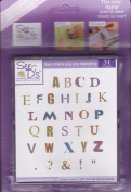 Distressed Alphabet Unmounted Rubber Stamp Set
