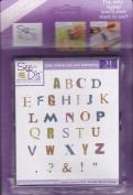 Distressed Alphabet Unmounted Rubber Stamp Set
