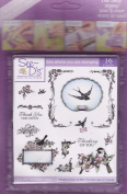 See D's Birdie 16 Rubber Stamps + Case # 50202 Inque Boutique Sugarloaf