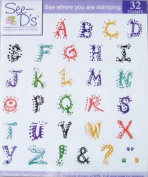 See D's Island Alphabet 32 Rubber Stamps W/Case # 50077 Inque Boutique Sugarloaf