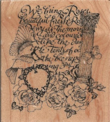 Rose Collage Wood Mounted Rubber Stamp