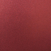 Best Creation 30cm by 30cm Glitter Cardstock, Wine Red