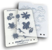 Timeless Touches Stamp & Stitch, Stamp & Template Set - Wildflowers