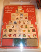 36 Christmas Stamps & 3 Pigment Ink Pads