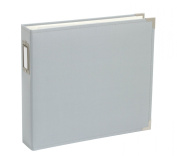 12 X 12 D-ring - Cloth Album - Grey