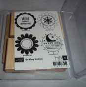Stampin up So Many Scallops Set of 4